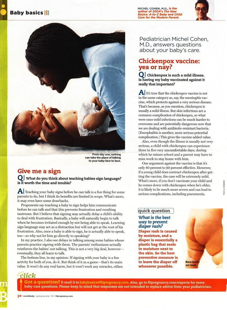 Mom&Baby Magazine, Spring 2009